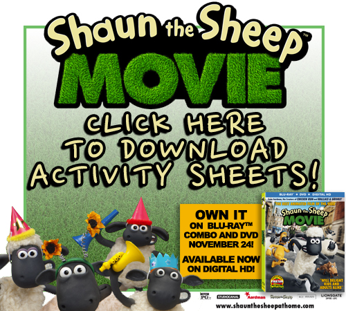 Shaun the Sheep Activity Pages