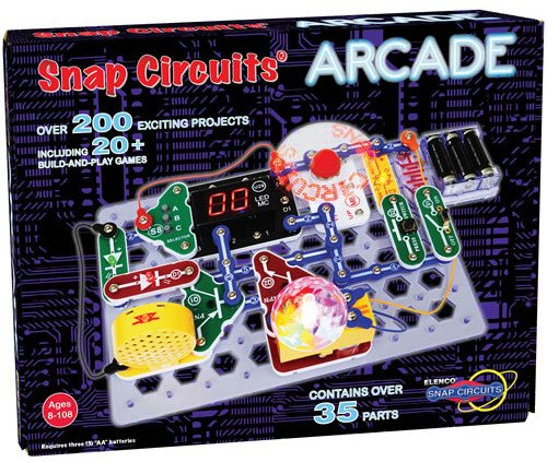 Snap Circuits Arcade kit teaches kids STEM (science, technology, engineering, and math) concepts through fun learning activities!