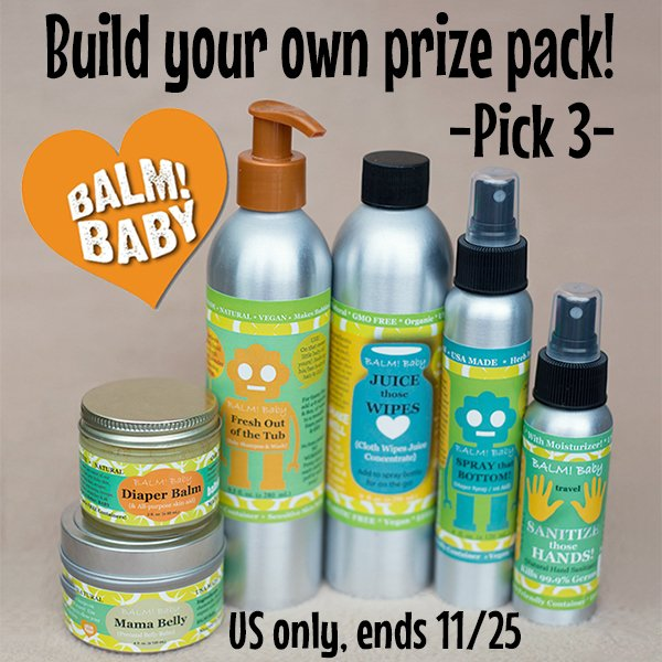Build your own BALM! Baby prize pack and win 3 products! (US, 11/25)