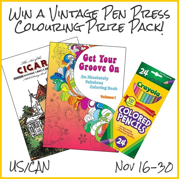 Win a Vintage Pen Press Colouring Prize Pack (US/CAN, 11/30)
