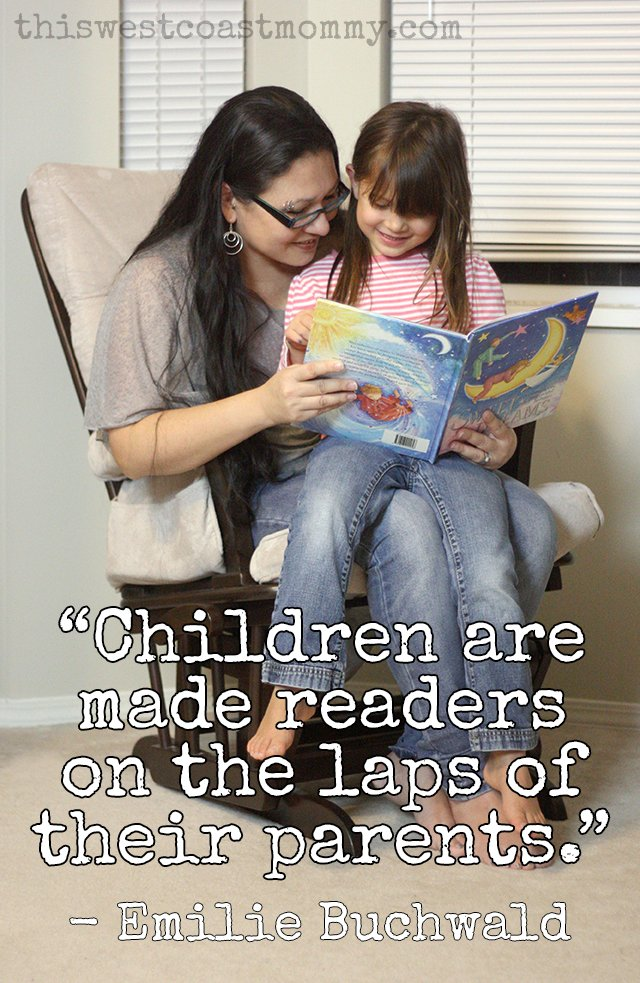 Children are made readers on the laps of their parents.