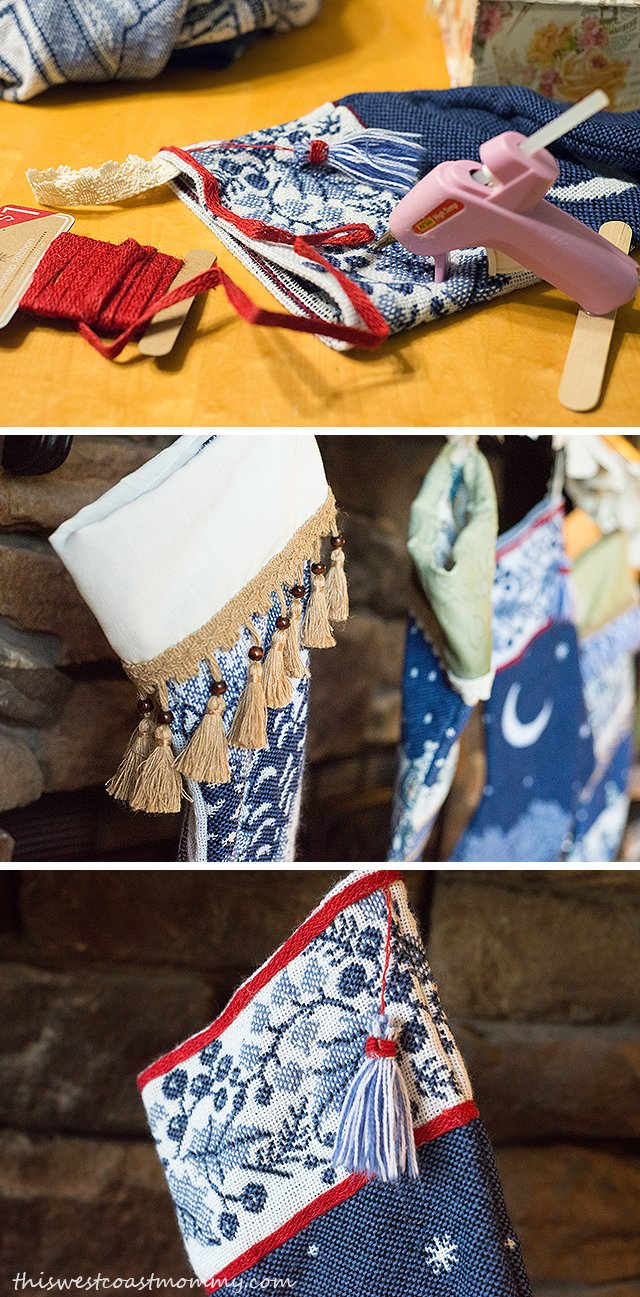 DIY Christmas Stockings from Thrift Store Blankets