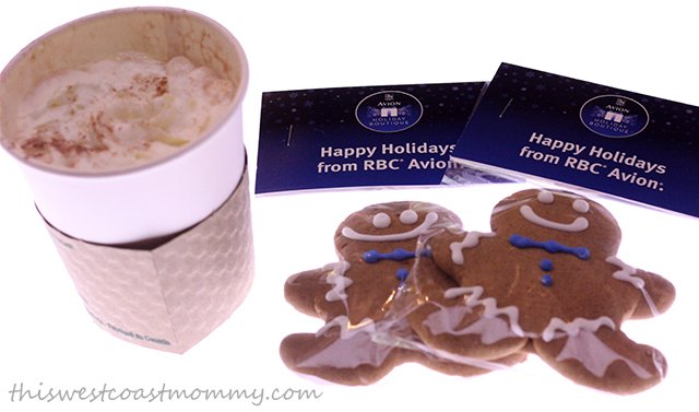 Refuel on hot chocolate and gingerbread cookies at the RBC Avion Holiday Boutique cafe