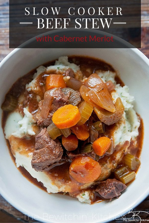 21 Gluten-Free Slow Cooker Beef Recipes: Slow Cooker Beef Stew with Red Wine from the Bewitchin' Kitchen