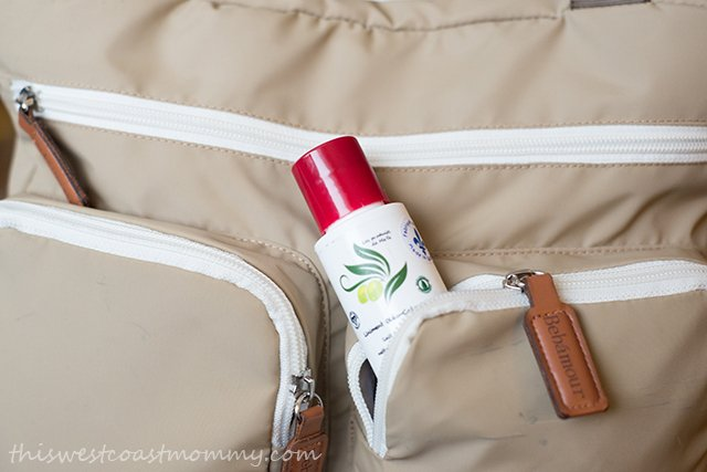 The smaller bottles of cleansing milk are perfect for diapering on the go.
