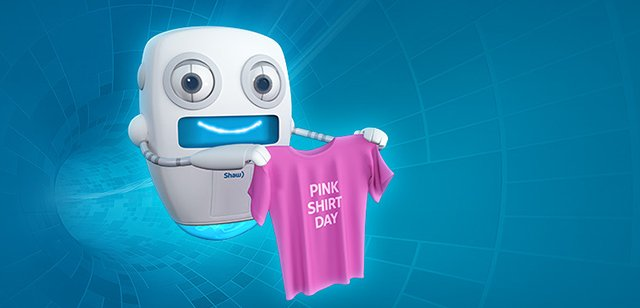Shaw Communications is spearheading the Pink Shirt Promise Campaign - a national campaign aimed at ending bullying and cyberbullying across Canada.