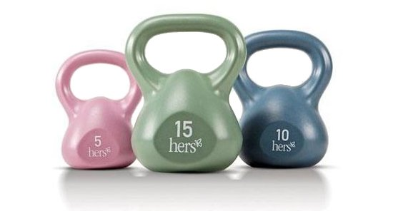 Change up your routine with a set of kettlebell weights.