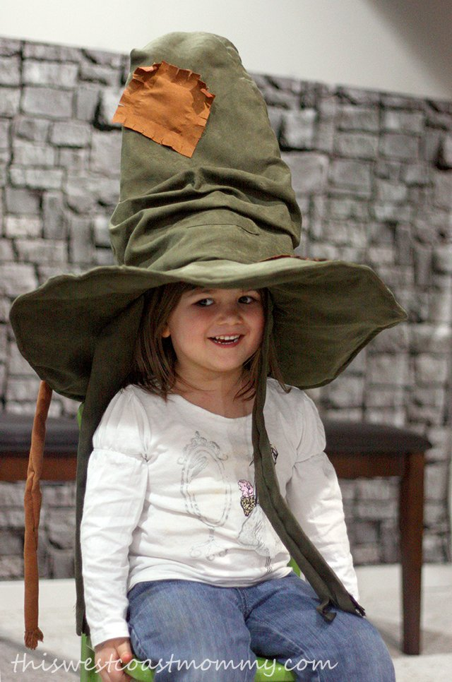 Kay in the sorting hat