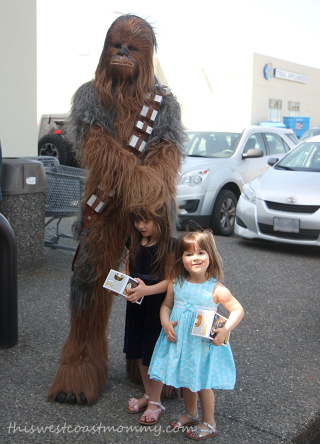 Chewbacca and the girls