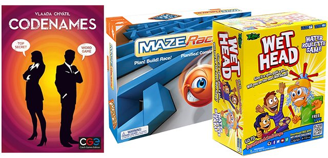 Rainy Day games from Mastermind Toys