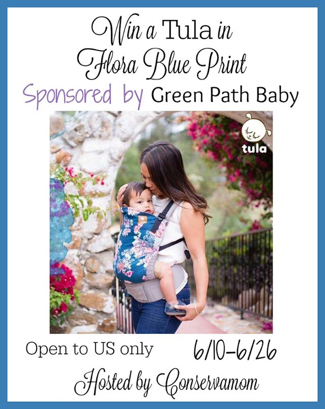win a flora blue tula carrier