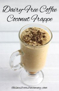 This Coffee Coconut Frappe is dairy-free, low sugar, and paleo-friendly. The perfect frosty pick-me-up for summer!