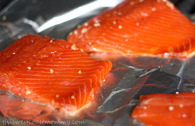 West coast living at its finest! Wild sockeye salmon grilled in a simple glaze flavoured with garlic, a touch of ginger, and 100% pure maple syrup.