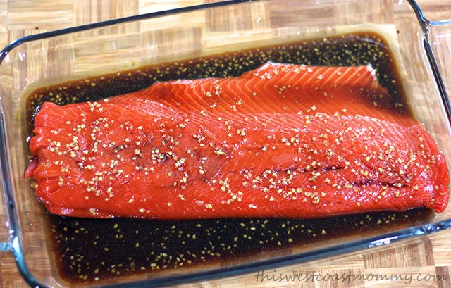 West coast living at its finest! Wild sockeye salmon grilled in a simple marinade flavoured with garlic, a touch of ginger, and 100% pure maple syrup.
