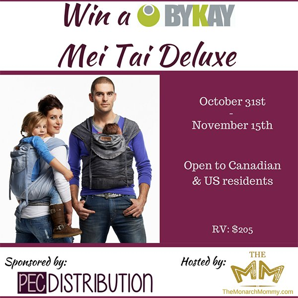 Win a ByKay Mei Tai Baby Carrier (US/CAN, 11/15)