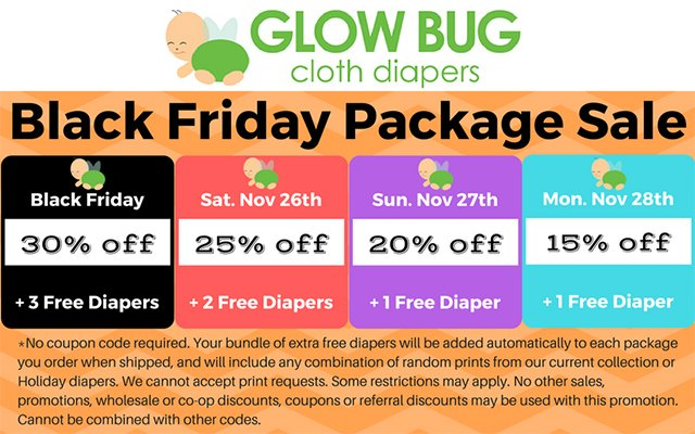 Glow Bug Diapers Black Friday