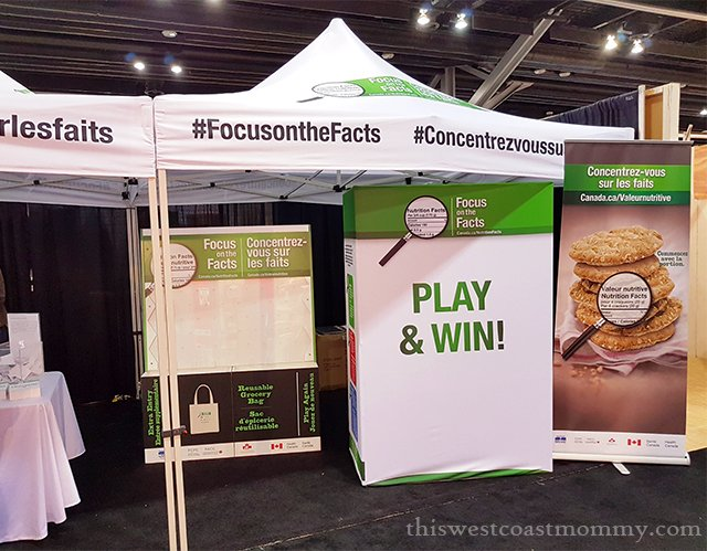 We visited the Nutrition Facts Education Campaign (NFEC) booth at the Vancouver Home + Design Show.