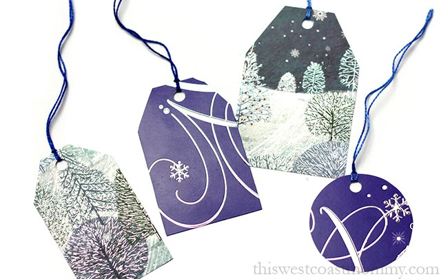 Upcycle all those holiday cards into pretty handmade gift tags!