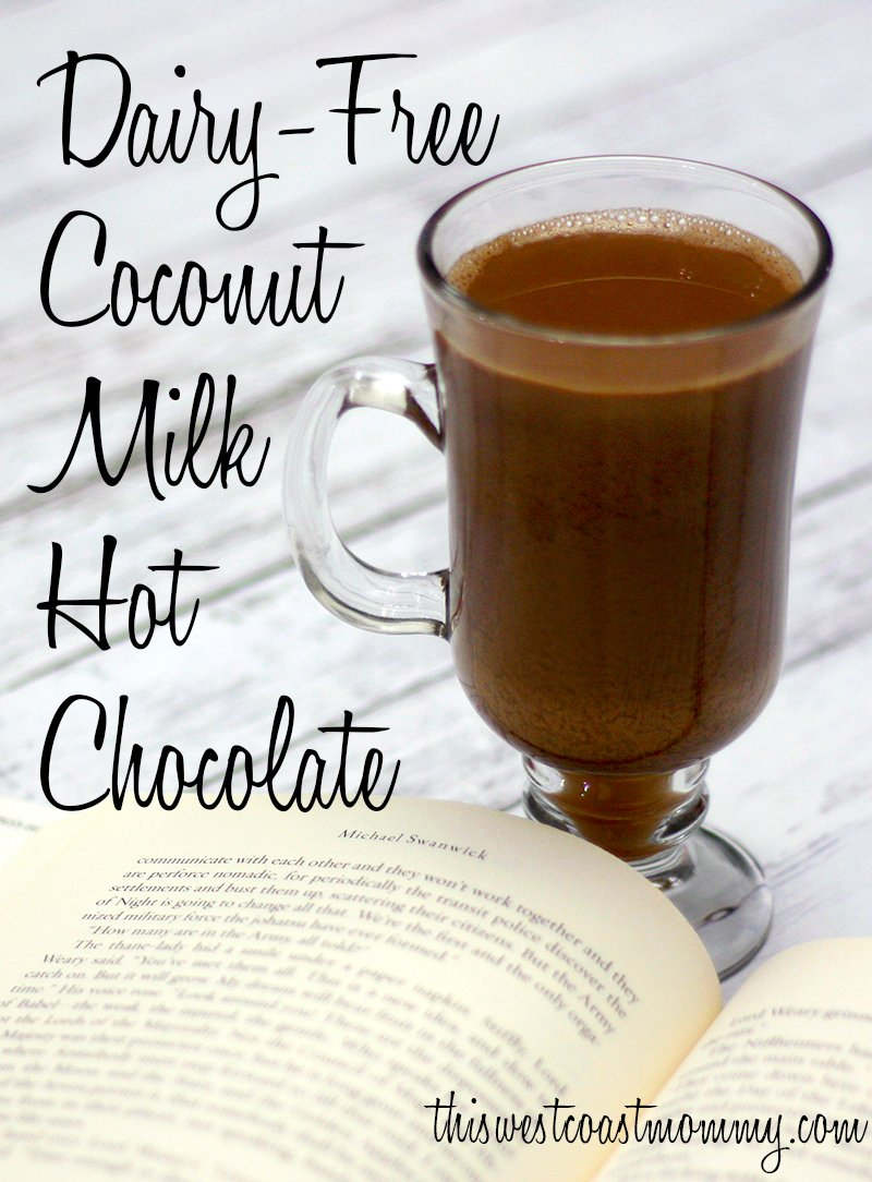 Warm up with this rich and creamy, non-dairy hot chocolate made with coconut milk.