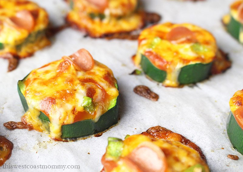 These mini zucchini pizzas are a quick and healthy bite-sized appetizer everyone will love!