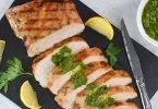 brazilian style grilled turkey breast with salsa verde FB.